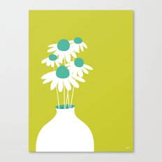 Flowers on Green by Friztin Canvas Print