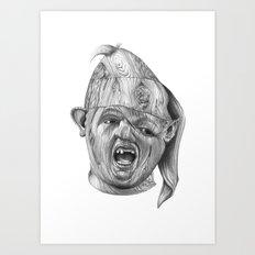 Wood Sloth Art Print