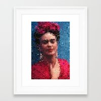 frida khalo Framed Art Prints featuring Frida by Artstiles