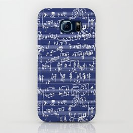 Hand Written Sheet Music // Midnight Blue iPhone Case
