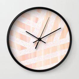 Peach linens Wall Clock