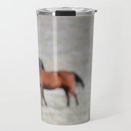 Extremely Photogenic Horse Travel Mug