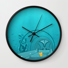 Gluttony - When the eye is bigger than the belly Wall Clock