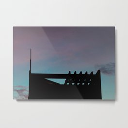 Twilight Silhouette, Beautiful Sunset, pink and blue sky, sunset print Metal Print