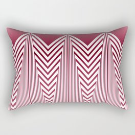 Art Deco Pink Arrowhead Pattern Rectangular Pillow