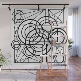 Circle and square geometry Wall Mural