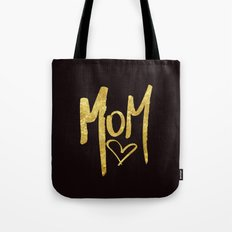 Mom Handwritten Type Tote Bag