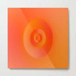Flip in Orange and Red Metal Print