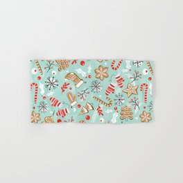 Gingerbread Dreams - Aqua Hand & Bath Towel