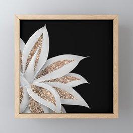 Agave Finesse Glitter Glam #6 #tropical #decor #art #society6 Framed Mini Art Print