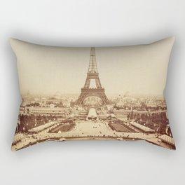 Eiffel Tower and Champ de Mars 1889 Paris Rectangular Pillow