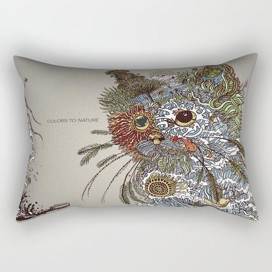 Colors to Nature. Rectangular Pillow