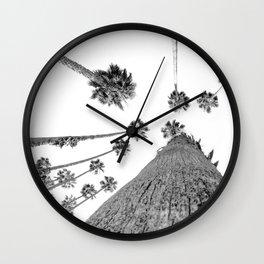 {2 of 2} Hug a Palm Tree // Tropical Summer Black and White Sky Art Print Wall Clock