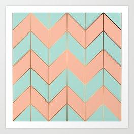 Marble Geometry 059 Art Print