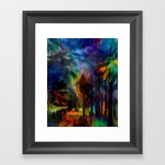 Forêt Nuit Framed Art Print