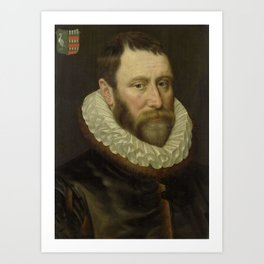 Adriaen Thomasz. Key - Portrait of Jacob Bas Claesz (1536-1589) Art Print