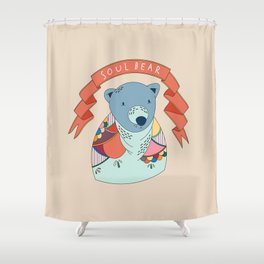 Soul Bear Shower Curtain