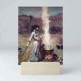 THE MAGIC CIRCLE - JOHN WILLIAM WATERHOUSE Mini Art Print