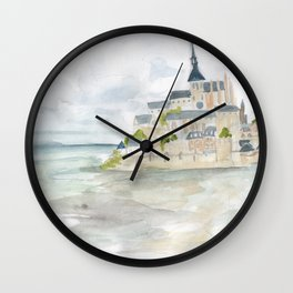 Visita to Mont Saint-Michel Wall Clock