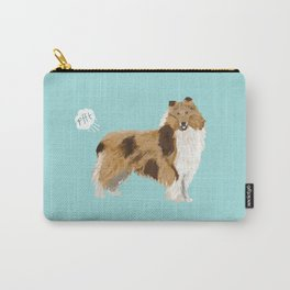 rough collie funny farting dog breed pure breed pet gifts Carry-All Pouch