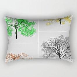Spring, Summer, Fall, and Winter Trees Rectangular Pillow