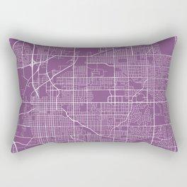 Lincoln Map, USA - Purple Rectangular Pillow