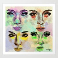 2ne1 Art Prints featuring 2ne1 by Absolem Studio