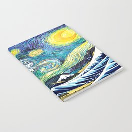 Starry Wave Night Notebook
