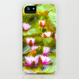 Water Lilys Art iPhone Case