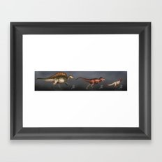 Some Cool Dinosaurs Framed Art Print