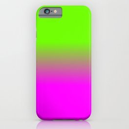 Neon Green and Hot Pink Ombré  Shade Color Fade iPhone Case