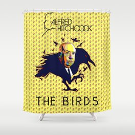 ALFRED HITCHCOCK (The Birds) Shower Curtain