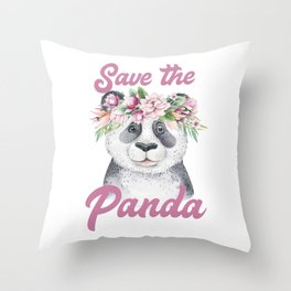 Save the Panda -#2 Throw Pillow