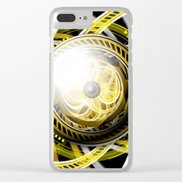 Wake the Bee, an Autobot Fractal Tribute to Bumblebee Clear iPhone Case