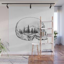SKULL/FOREST Wall Mural