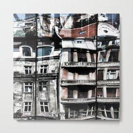 Reflection of Buildings on Buldings in Belgrade Metal Print