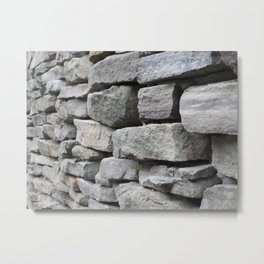 Stacked Grey Stone Metal Print