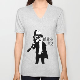 Darren Criss with guitar! Unisex V-Neck
