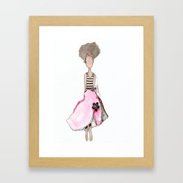 Splotch Girl - Fashionista Framed Art Print