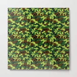 camouflage militaire Metal Print