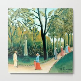 "Henri Rousseau ""The Luxembourg Gardens. Monument to Chopin"" Metal Print"
