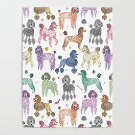 Poodles by Veronique de Jong Poster