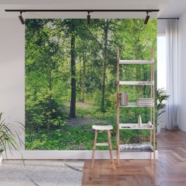 Forest Lavender Flowers Wall Mural