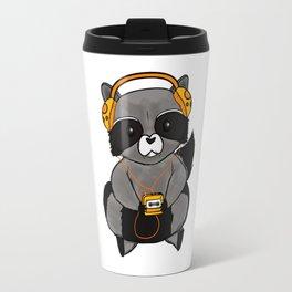 three wise raccoon music Travel Mug
