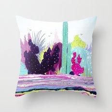 Cacti Watercolour Allsorts Throw Pillow