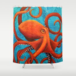Holding On - Octopus Shower Curtain