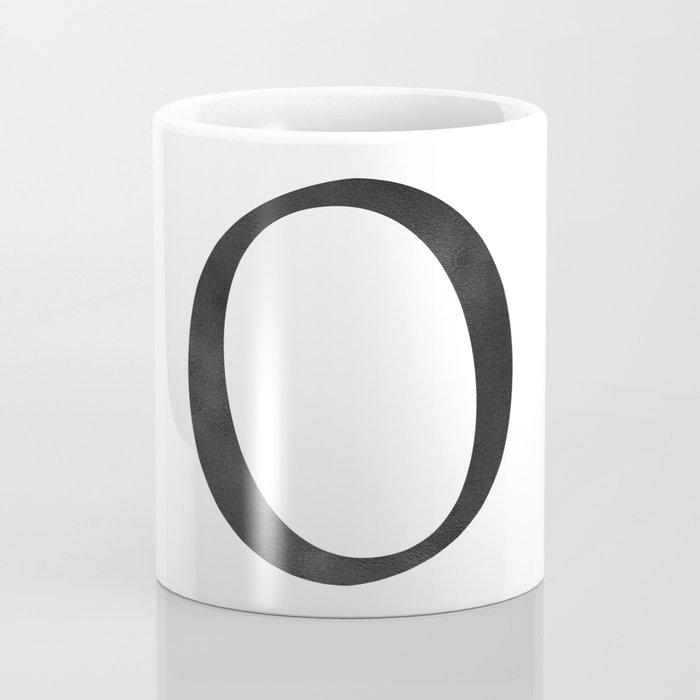 Letter O Initial Monogram Black and White Coffee Mug