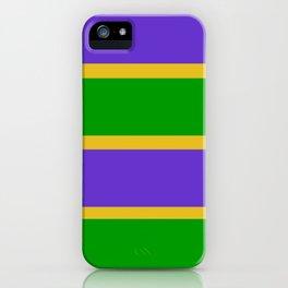 Mardi Gras Stripes iPhone Case