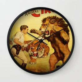 The Trained Wild Animal Wall Clock