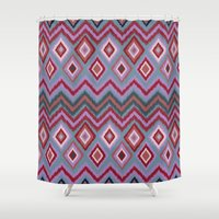 ikat Shower Curtains featuring IBIZA IKAT by Nika